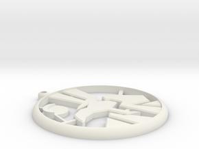 Anubis Symbol Wall Plaque XL 7''  in White Natural Versatile Plastic
