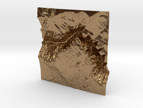 3'' Black Canyon of the Gunnison, CO, WSF in Natural Brass
