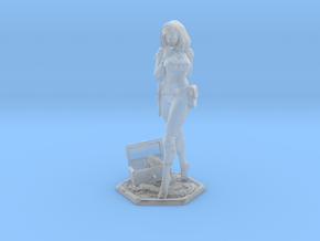 Female Thief 40mm Game Piece in Smooth Fine Detail Plastic