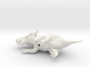 Pachyrhinosaurus 1:72 scale model in White Strong & Flexible