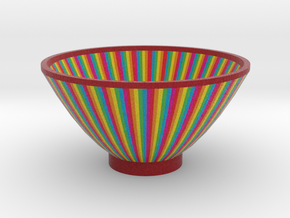 DRAW bowl - segmented D in Full Color Sandstone