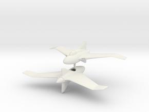 1/200 Northrop XP56 Black Bullet (x2) in White Natural Versatile Plastic