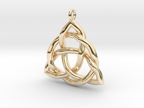 Triquetra Pendant or Trinity Knot Pendant in 14K Yellow Gold