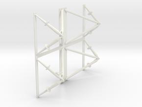 Landing Gear Outrigger in White Natural Versatile Plastic