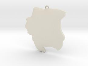 3D SU keychain  in White Acrylic