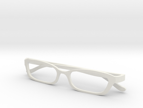 Miniature Glass 65mm in White Natural Versatile Plastic