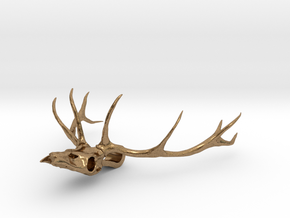 Antler's Stag in Natural Brass