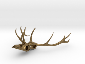 Antler's Stag in Natural Bronze