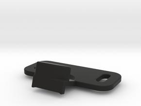 Lock GloveBox in Black Natural Versatile Plastic