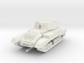 Vehicle- Valentine Archer Tank (1/87th) in White Natural Versatile Plastic