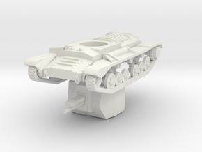 Vehicle- Valentine Bishop Tank (1/87th) in White Natural Versatile Plastic