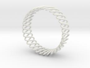 Spring Bracelet in White Strong & Flexible
