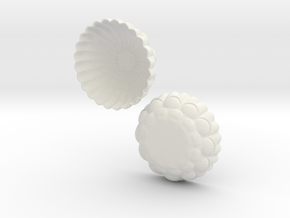 Ornate Bowl in White Natural Versatile Plastic