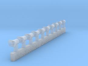 Druckkammerlautsprecher Groß in 1/43 in Smooth Fine Detail Plastic