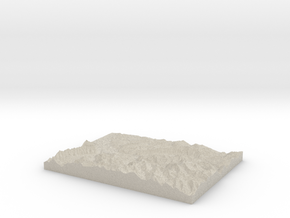 Model of Gündlischwand in Natural Sandstone