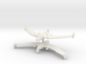 1/300 Handley Page HP 75 'Manx' (x2) in White Natural Versatile Plastic