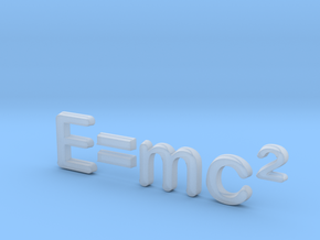 E=mc^2 3D C in Smooth Fine Detail Plastic