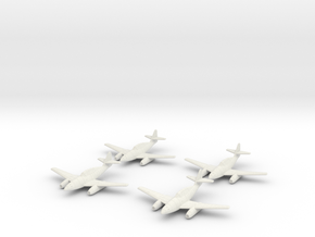 1/144 Messerschmitt Me-262B (x2) in White Natural Versatile Plastic