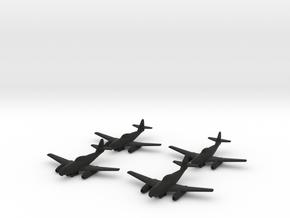 1/144 Messerschmitt Me-262A-2a/U2 (x4) in Black Strong & Flexible