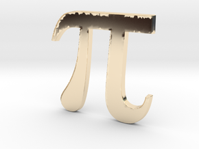PI 3D in 14K Yellow Gold
