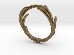 Antler Ring in Polished Bronze