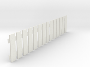 Fence 2 in White Natural Versatile Plastic