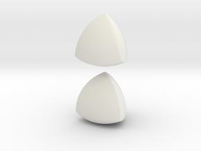 Jumbo (4cm) Meissner Solids in White Natural Versatile Plastic