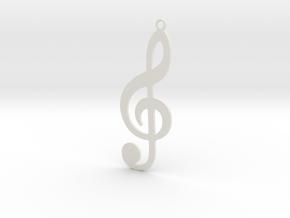 Violin Key in White Natural Versatile Plastic