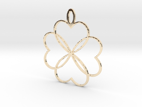 Shakti Flower Pendant in 14K Yellow Gold