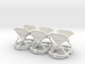 0n16.5 Skip riveted body round axlebox X3 in White Natural Versatile Plastic