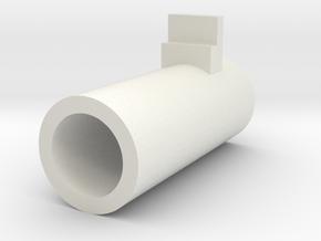 Airsoft MP7 Nozzle in White Natural Versatile Plastic