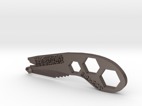 Multitool in Polished Bronzed Silver Steel