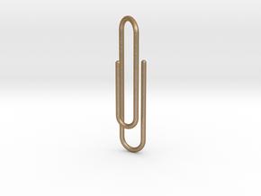 Clip tie bar lg in Matte Gold Steel