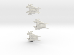 Thunder Fighter Variants 1/270 (Buck Rogers) in White Strong & Flexible
