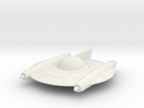 Selenite Attack Saucer in White Natural Versatile Plastic