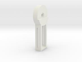 DSLR_pitch_bearing_inner in White Strong & Flexible