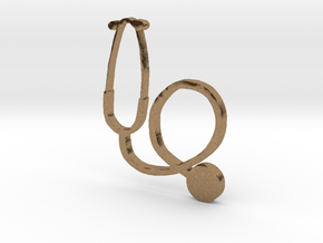 stethoscope in Natural Brass