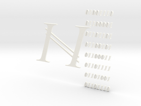 Namecoin Crypto 3D in White Processed Versatile Plastic