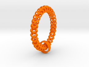 Cubichain Bracelet (Multiple sizes) in Orange Strong & Flexible Polished: Extra Small