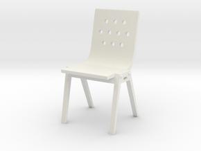 1:24 Modwood Chair (Not Full Size) in White Natural Versatile Plastic