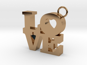 LOVE-Pendant in Polished Brass