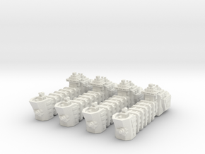 BFG Troop Ships (x4) in White Natural Versatile Plastic