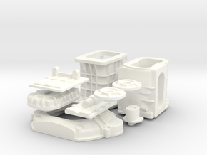 1/8 T-44 Transaxle With Ford 427 SO Bellhousing in White Strong & Flexible Polished