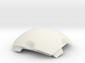 NSphere Palm (tile type:4) in White Natural Versatile Plastic
