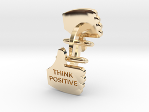 Thumbs Up think positive Cufflink in 14K Yellow Gold