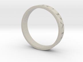 Latin Motto Ring in Natural Sandstone