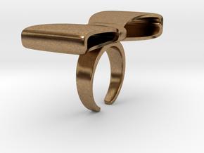 BigRibbonRing US-Ring-size6.5(JP-size-#12) in Natural Brass