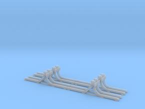 Schmalspur-Prellbock 1:45 (4x) in Smooth Fine Detail Plastic