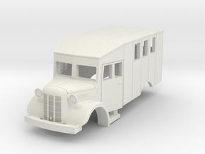 Austin K2 (Bellewagen 1) in HO in White Natural Versatile Plastic