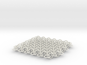 2D Chain Mail, 2cm deep version in White Natural Versatile Plastic